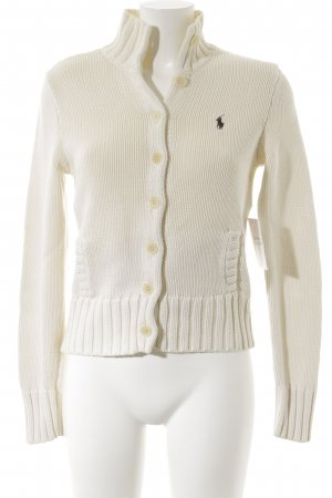 Ralph Lauren Sport Strickjacke wollweiß Casual-Look