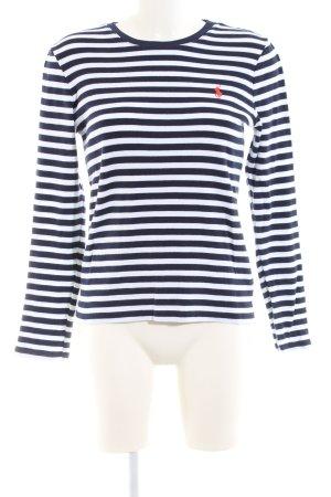 Ralph Lauren Sport Strickpullover schwarz-weiß Streifenmuster Casual-Look
