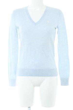 Ralph Lauren Sport Strickpullover blau meliert Casual-Look