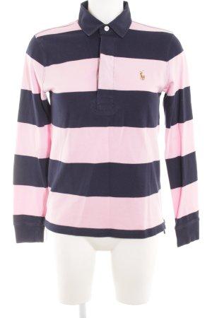 Ralph Lauren Sport Strickpullover dunkelblau-rosa Streifenmuster Casual-Look