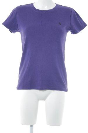 Ralph Lauren Sport T-Shirt dunkelviolett-schwarz Casual-Look