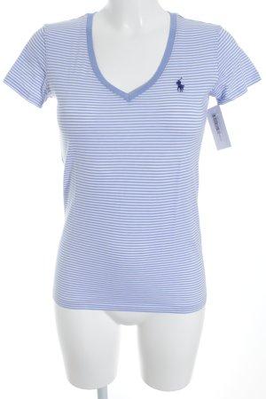 Ralph Lauren Sport T-Shirt himmelblau-weiß Streifenmuster sportlicher Stil
