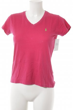 Ralph Lauren Sport T-Shirt magenta-neongrün Casual-Look