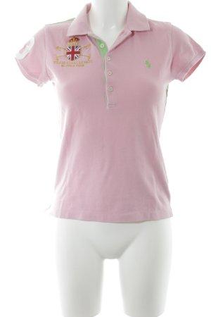Ralph Lauren Sport T-Shirt rosa-wiesengrün schlichter Stil