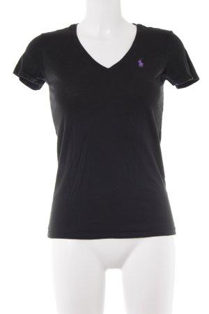 Ralph Lauren Sport T-Shirt schwarz-lila Casual-Look