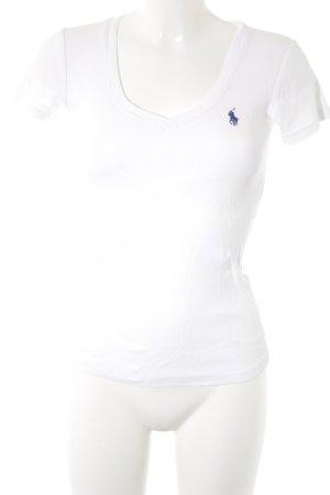 Ralph Lauren Sport T-Shirt weiß-blau klassischer Stil