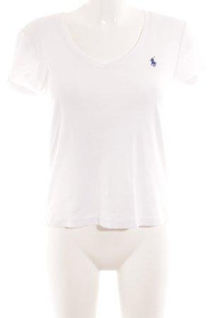 Ralph Lauren Sport T-Shirt weiß-dunkelblau Casual-Look
