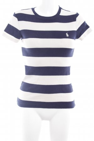 Ralph Lauren Sport T-Shirt wollweiß-dunkelblau Streifenmuster sportlicher Stil