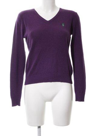 Ralph Lauren Sport V-Ausschnitt-Pullover lila Casual-Look