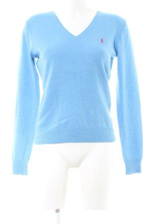 Ralph Lauren Sport V-Ausschnitt-Pullover blau Business-Look