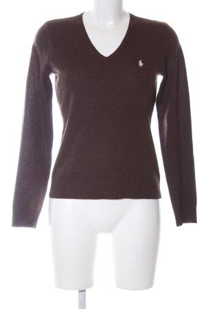 Ralph Lauren Sport V-Ausschnitt-Pullover braun Casual-Look