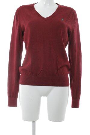 Ralph Lauren Sport V-Ausschnitt-Pullover bordeauxrot Casual-Look