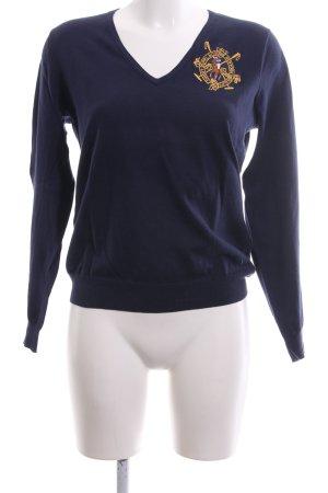 Ralph Lauren Sport V-Ausschnitt-Pullover blau Casual-Look