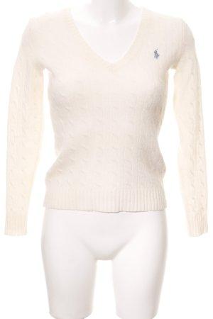 Ralph Lauren Sport V-Ausschnitt-Pullover creme Casual-Look