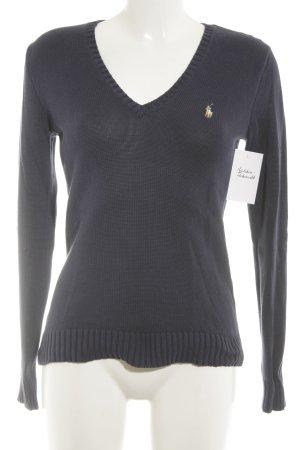 Ralph Lauren Sport V-Ausschnitt-Pullover dunkelblau-beige Casual-Look