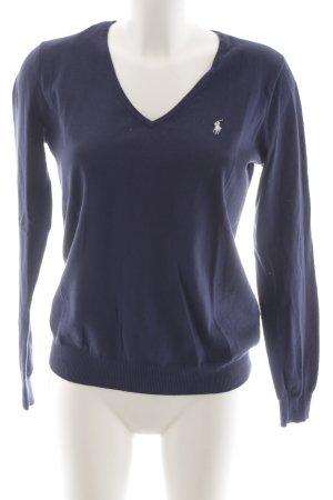 Ralph Lauren Sport V-Ausschnitt-Pullover dunkelblau Casual-Look