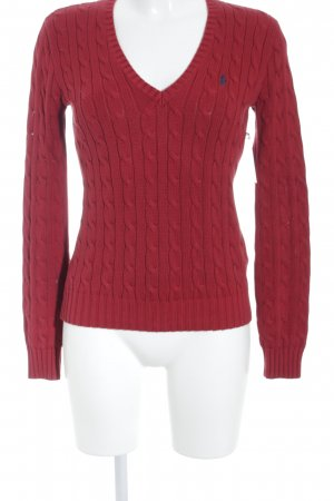 Ralph Lauren Sport V-Neck Sweater dark red casual look
