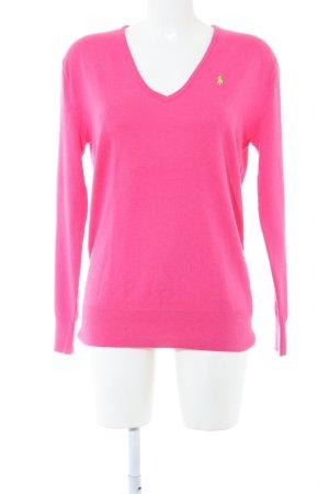 Ralph Lauren Sport V-Ausschnitt-Pullover pink Casual-Look