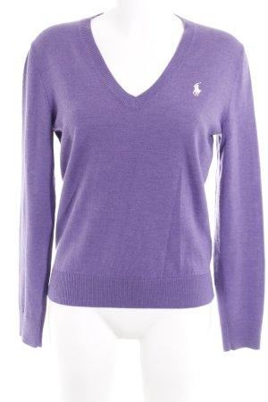 Ralph Lauren Sport V-Ausschnitt-Pullover flieder Casual-Look