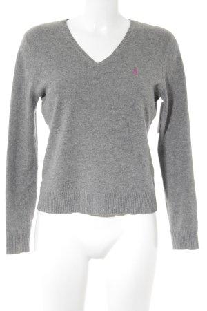 Ralph Lauren Sport V-Ausschnitt-Pullover grau meliert Casual-Look