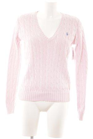 Ralph Lauren Sport V-Ausschnitt-Pullover hellrosa Business-Look