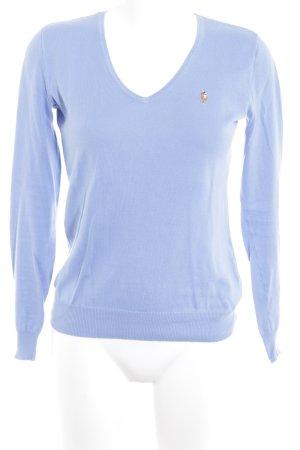 Ralph Lauren Sport V-Ausschnitt-Pullover himmelblau Casual-Look
