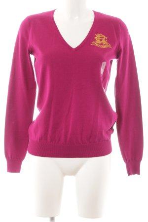 Ralph Lauren Sport V-Ausschnitt-Pullover magenta Business-Look