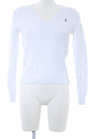 Ralph Lauren Sport V-Neck Sweater natural white casual look