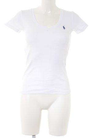 Ralph Lauren Sport V-Ausschnitt-Shirt dunkelblau Segel-Look
