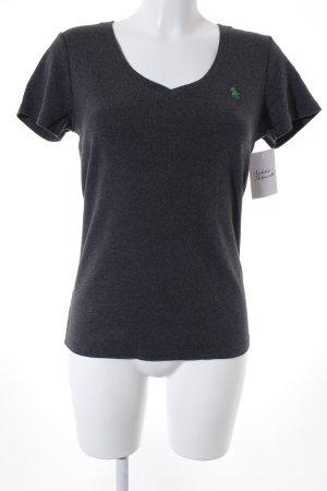 Ralph Lauren Sport V-Ausschnitt-Shirt dunkelgrau-grün Casual-Look