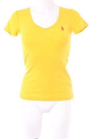 Ralph Lauren Sport V-Ausschnitt-Shirt gelb-orange schlichter Stil