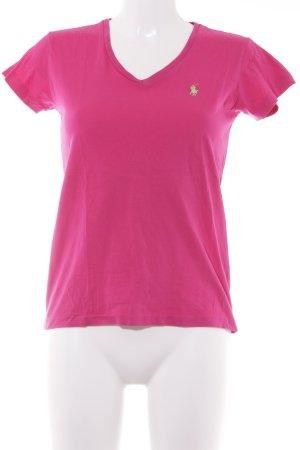 Ralph Lauren Sport Camisa con cuello V rosa look casual