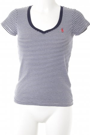 Ralph Lauren Sport V-Ausschnitt-Shirt Streifenmuster Segel-Look