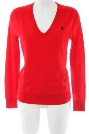 Ralph Lauren Sport Jersey de lana rojo look casual