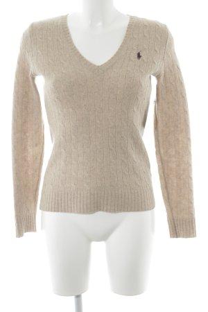 Ralph Lauren Sport Maglione di lana marrone chiaro-beige stile casual