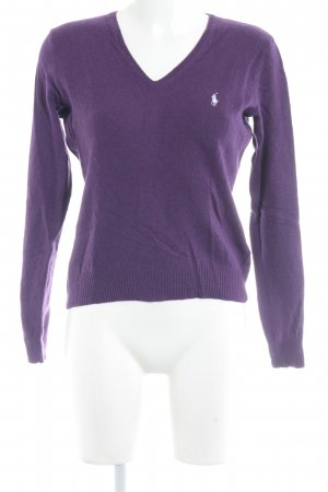 Ralph Lauren Sport Wollpullover lila Casual-Look