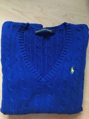 Ralph Lauren Sport Zopfmuster-Pullover Blau M