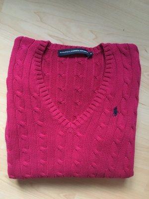 Ralph Lauren Sport Zopfmuster-Pullover Pink M