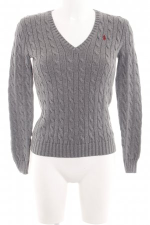 Ralph Lauren Sport Cable Sweater light grey cable stitch casual look