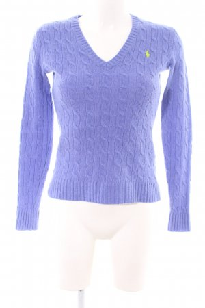 Ralph Lauren Sport Cable Sweater lilac cable stitch casual look
