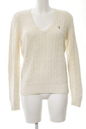 Ralph Lauren Sport Jersey trenzado crema punto trenzado look casual