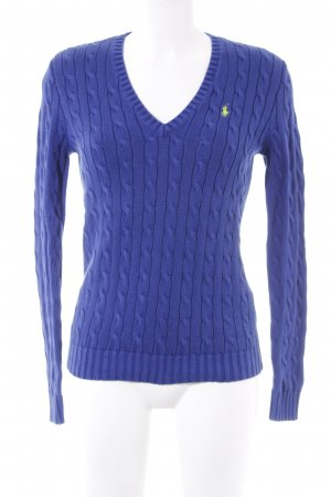 Ralph Lauren Sport Cable Sweater blue cable stitch casual look