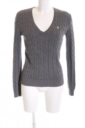 Ralph Lauren Sport Cable Sweater light grey cable stitch business style
