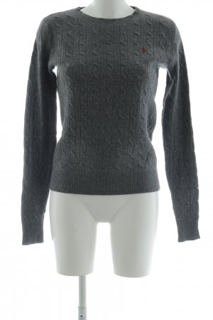 Ralph Lauren Sport Cable Sweater dark grey cable stitch casual look