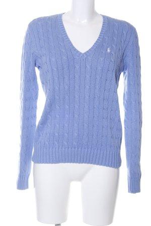 Ralph Lauren Sport Zopfpullover blau Casual-Look