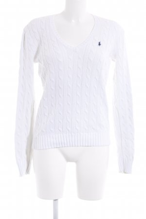 Ralph Lauren Sport Cable Sweater white cable stitch casual look