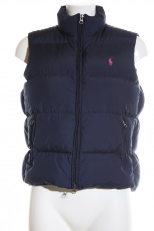 Ralph Lauren Quilted Gilet blue quilting pattern casual look
