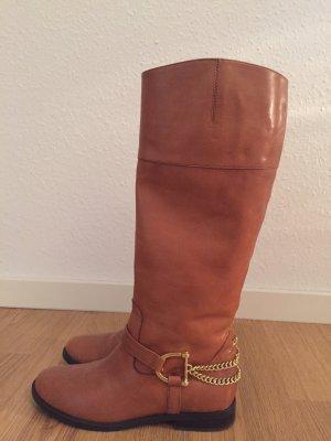 Ralph Lauren Botte d'équitation cognac-brun cuir