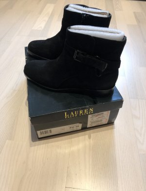 Lauren by Ralph Lauren Winter Booties black leather