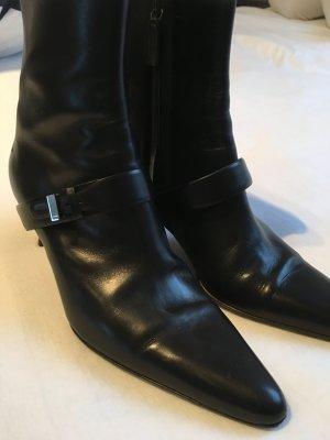 RALPH LAUREN Stiefeletten Leder Schwarz Größe US 7 (D38)